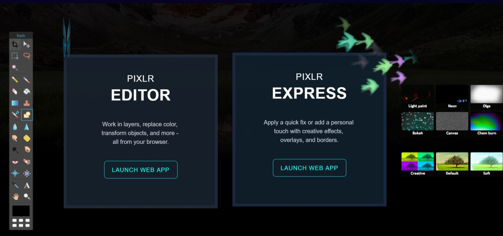 PIXLR editor en linea gratis