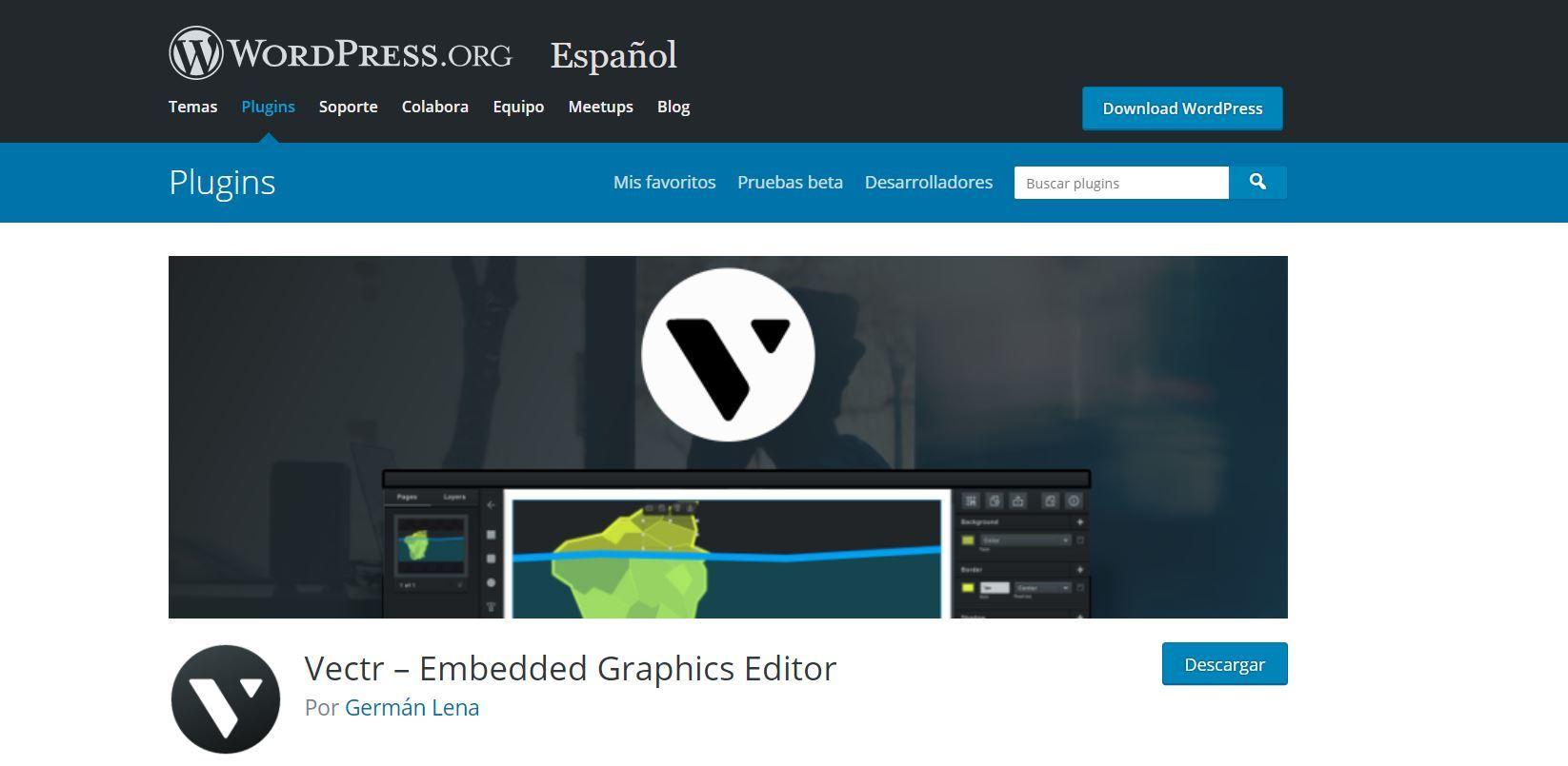 Vectr plugin WordPress