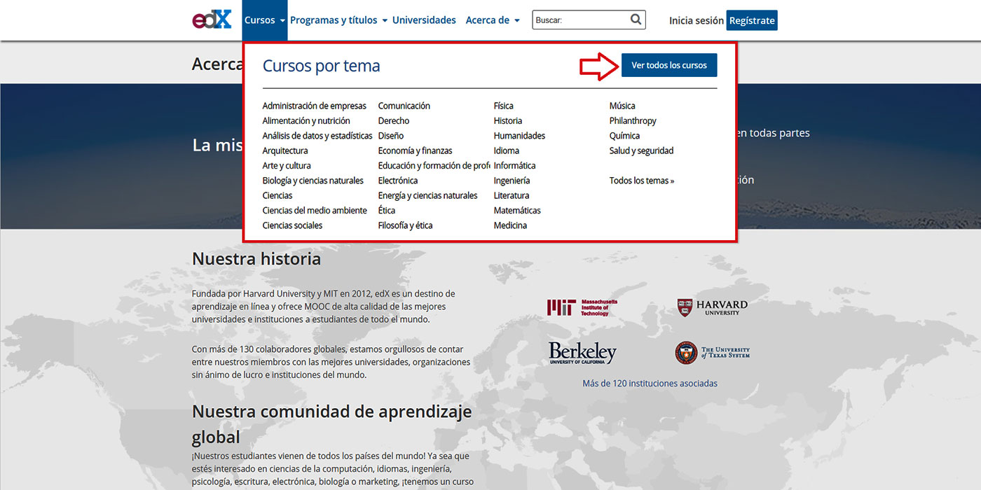 edX - Comunidad de aprendizaje global por Harvard University y MIT